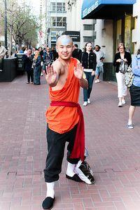 Met a cosplayer dressed as Aang