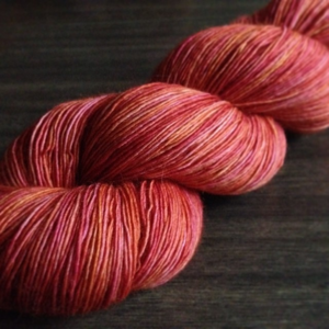 Hanami - a merino lace in more of a pinky-orange tone