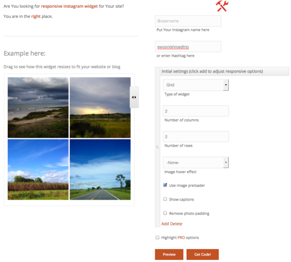 Responsive Instagram widget for your Responsive Design